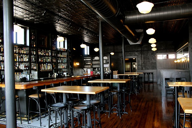The barroom on the first floor of the space. - LEXIE MILLER