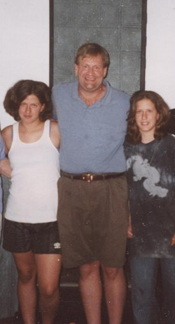 Keith Giammanco and his daughters during happier times. - COURTESY OF THE AUTHOR