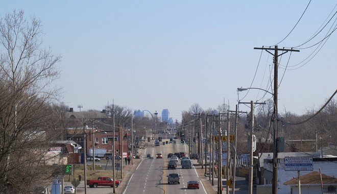 The view heading into downtown St. Louis from north county. - FLICKR/PAUL SABLEMAN