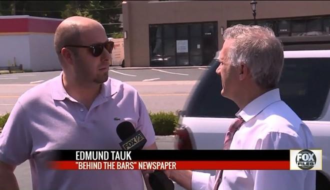 Speaking to Fox2 reporter Chris Hayes, Edmund Tauk denied that he runs STLMugshots.com - SCREENSHOT VIA FOX2
