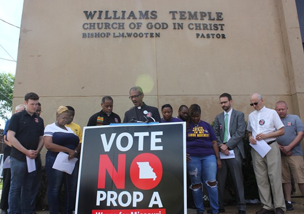 Missouri's right-to-work bill flopped with voters. - CAMILLE RESPESS
