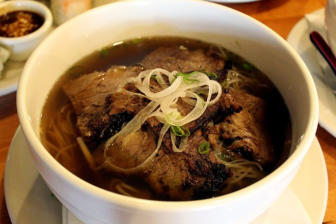 The beef belly, or brisket, pho for $13.95. - LEXIE MILLER