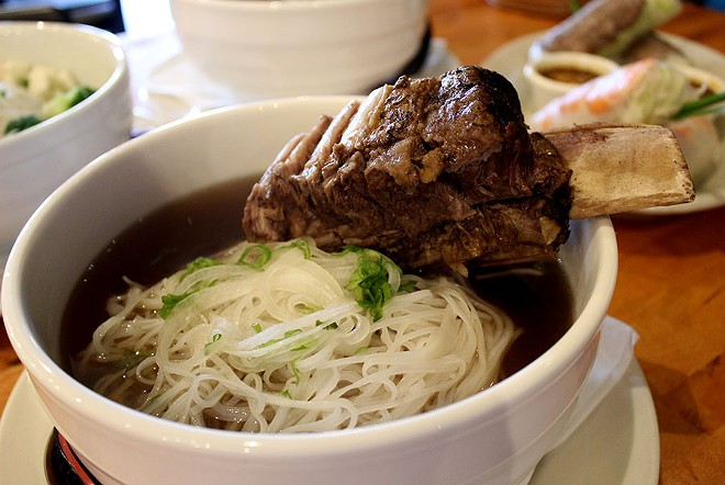 The pho ranges in price from $8.50 to $13.95. - LEXIE MILLER