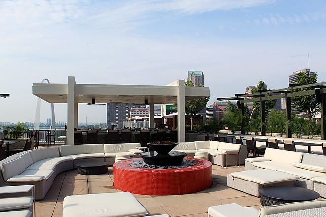 The newly renovated rooftop patio with its own bar and casual seating. - LEXIE MILLER