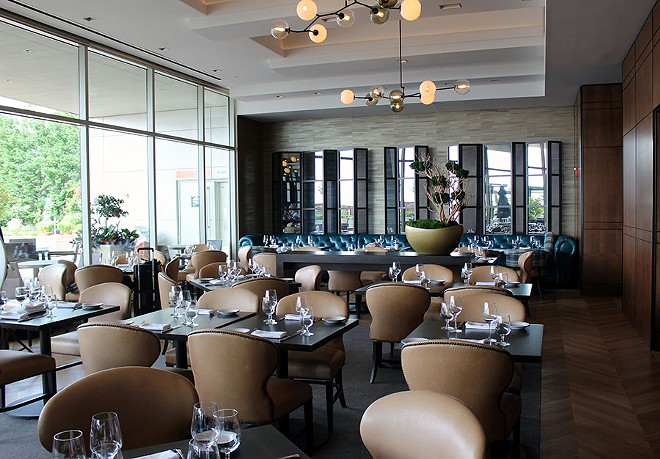 The upscale dining area was expanded and renovated. - LEXIE MILLER