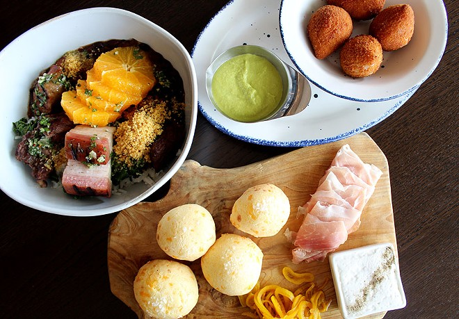 Three of the most anticipated dishes at Cinder House. - LEXIE MILLER