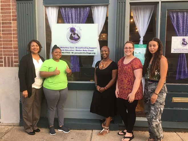 "Yvonne Smith, Noni Rogers Boyd, Brittany ""Tru"" Kellman, Haley Manning and Madyson Winn have big plans for Jamaa Birth Village. But they need money to achieve them. - COURTESY OF BRITTANY KELLMAN"