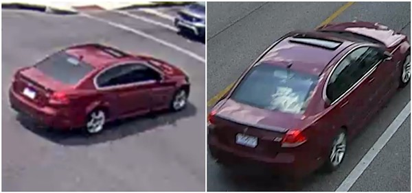 This Pontiac G8 was used in Armond Latimore's murder, police say. - COURTESY ST. LOUIS POLICE