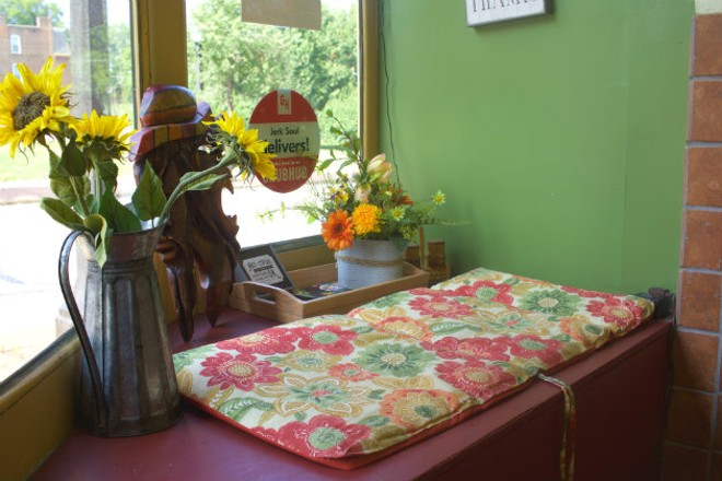 Window benches provide seating while you wait for your order. - CHERYL BAEHR