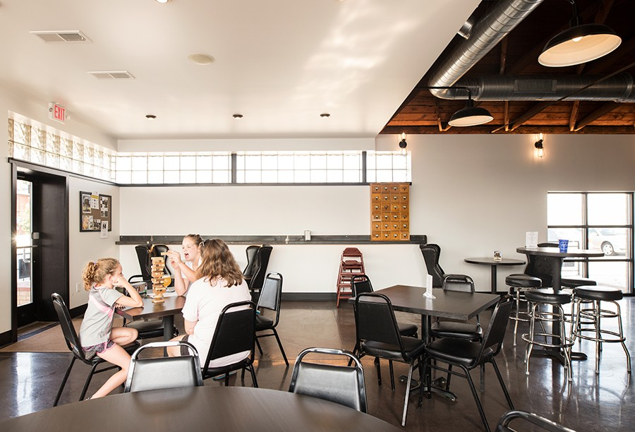 Alpha Brewing Company offers plenty of seating, including an outside patio. - MABEL SUEN