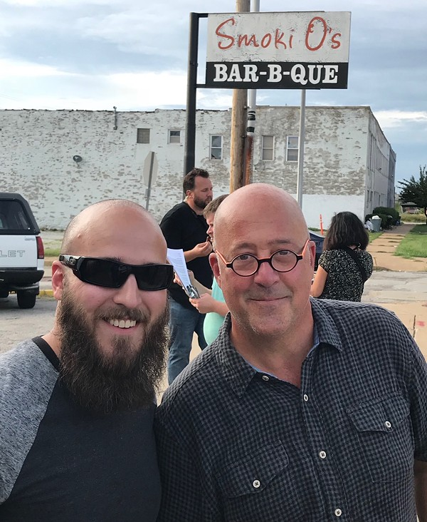 Andrew Zimmern visited the landmark Smoki O's. - COURTESY OF BLAKE EASTWOOD