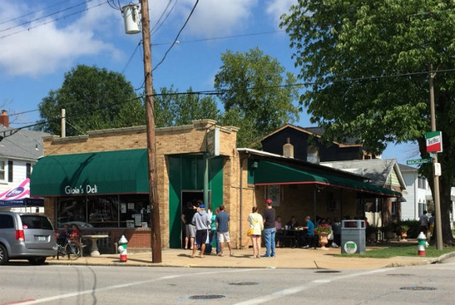 Gioia's Deli is normally closed Sundays. Yesterday, it drew a line that stretched out the door. - JAIME LEES