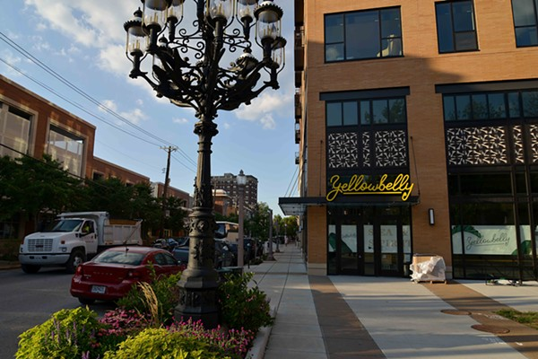 Yellowbelly sits on the corner of Lindell and Euclid in a vibrant part of Central West End. - TOM HELLAUER