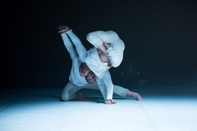 In Henry and Edward, dancers James Gregg and RubberLegz tell a story inspired Dr. Jekyll and Mr. Hyde. - COURTESY OF WEWOLF AND DANCE ST. LOUIS