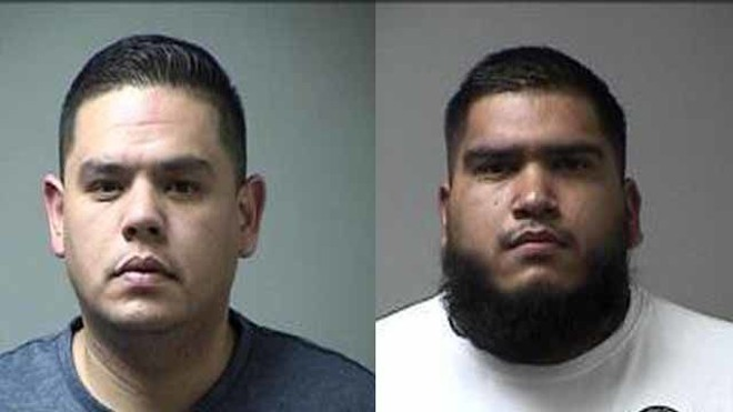 Jonathen Aguilar and Ruben Lopez were taken into custody on Wednesday.