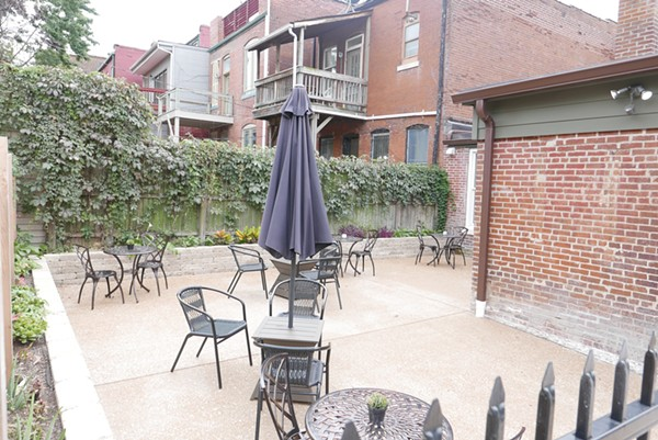The patio is a great spot to enjoy your dessert. - DESI ISAACSON