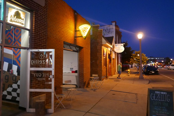 Nestled in the Grove, Pie Guy Pizza offers whole pies and slices, with an order window open 'til 3 a.m. - DESI ISAACSON