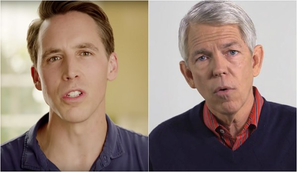 Josh Hawley (left) and David Barton. - SCREENSHOTS VIA YOUTUBE, YOUTUBE