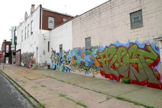 New mural work on west wall of 3124 Cherokee St.