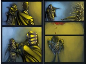 A panel from Late Sunsets, Early Sunrises by Theo Scheresky and Idiceanu Mihai. - COURTESY BLOODY DISGUSTING