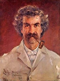 An 1890 portrait of Mark Twain by James Carroll Beckwith. - WIKIMEDIA COMMONS