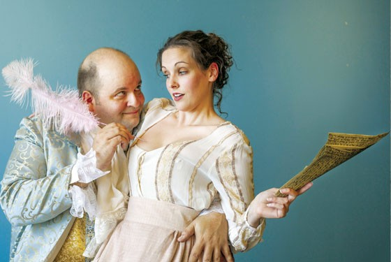 Just a prick: Ted Gregory and Caitlin Mickey in Max & Louie's Quills. - JOHN LAMB
