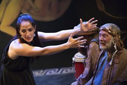 Maggie Conroy and Patrick Siler in Upstream's Antigone. - PETER WOCHNIAK