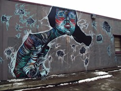 Gretchen, a mural by Faring Purth in Covington, Kentucky. - COURTESY OF FARING PURTH