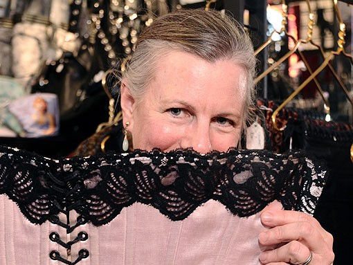 Corset-maker Dorothy Jones. See more photos here. - PHOTO: EGAN O'KEEFE