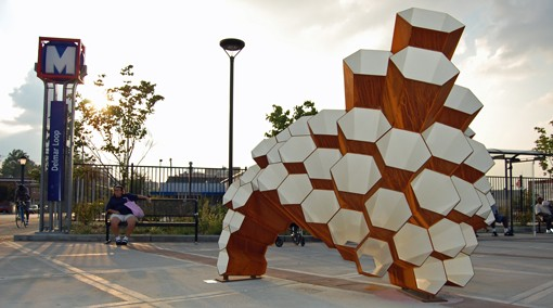 """""""Hive,"""" the latest piece of artwork featured at a Metro stop, was dedicated last night. - PHOTO: NICK LUCCHESI"""