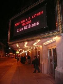 Outside the Roberts Orpheum Theatre last night. - PHOTO: MATT BLICKENSTAFF