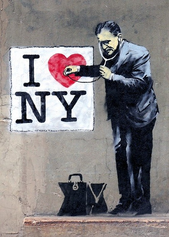 Why no heart for STL Banksy? - IMAGE VIA GOTHAMIST