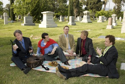 The Kids: Left to right, Mark McKinney, Bruce McCulloch, Scott Thompson, Dave Foley and Kevin McDonald.