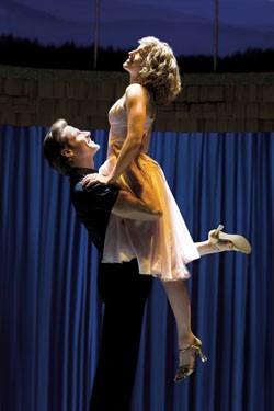 Josef Brown and Amanda Leigh Cobb in Dirty Dancing the Musical. - DAVID SCHEINMANN