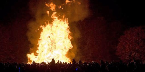 This is a huge fire. this is *not* what the fire at Saturday's fall festival will look like. That's more like this.