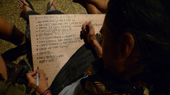 Justin Tolentino, making a list of rules to live by.