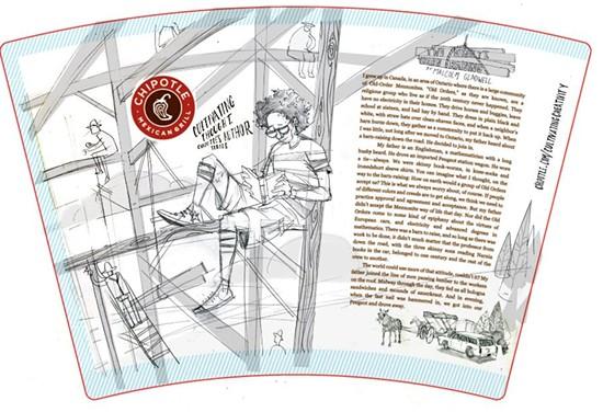 The final sketch MacMillan sent to Chipotle. - NOAH MACMILLAN