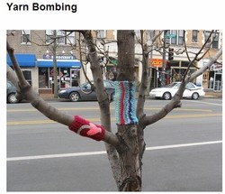 Yarn Bombing, it's like graffiti, only it's not. - VIA ARTFINDER12.2 ON FLICKR