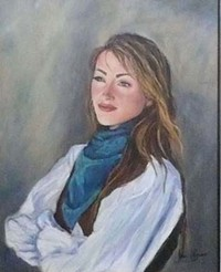 Seymour's painting of Dr. Quinn - WENTWORTHGALLERY.COM