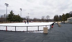 Admission and skate rental will run you less than $10 at Steinberg. The rink's open 'til midnight on Fridays.