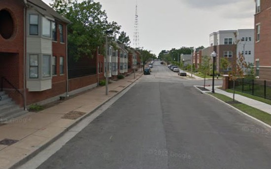 Carr Street where the shooting took place. - VIA GOOGLE MAPS