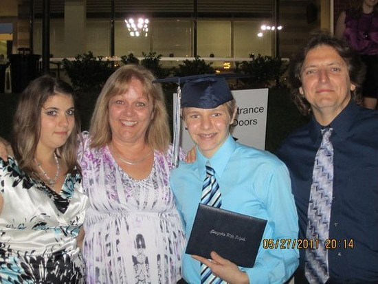 Matthew Pellegrini at his graduation. - COURTESY OF TAMI INKLEY
