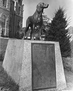 Old Drum's memorial.