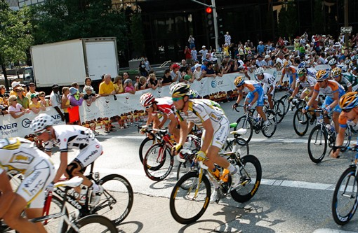 On Monday, the Tour of Missouri took off downtown. See more photos from Monday's race here. - PHOTO: STEW SMITH