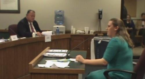 Dina van der Zalm testifies on House Bill 1313. - YOUTUBE
