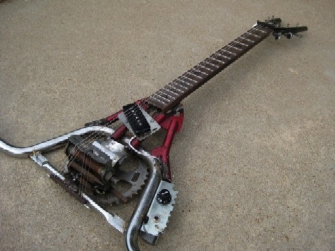 Six String Handlebar Guitar, made by Rob Usher of Art Works That Work. He'll be at the Strange Folk Festival this week. - COURTESY OF THE ARTIST.