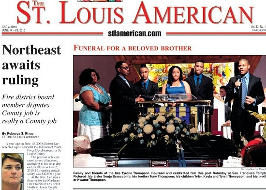 St. Louis American. - VIA FACEBOOK