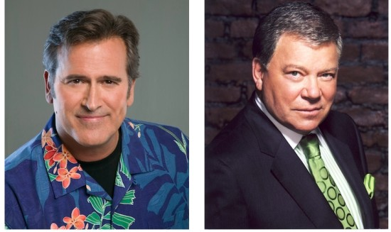 """Bruce """"Ash"""" Campbell and William """"Kirk"""" Shatner are in St. Louis for Wizard World. - PHOTOS COURTESY OF WIZARD WORLD"""