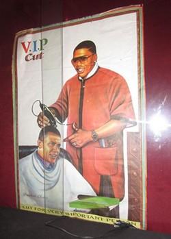 Nelly gives President Barack Obama a VIP cut. - JULIA VAN HORN