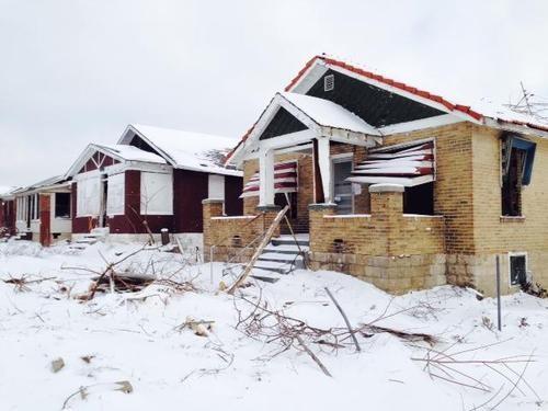 Houses await demolition this week in Richmond Heights. - PHOTOS: CHAD GARRISON